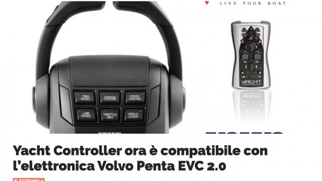 Yacht Controller e Volvo Penta, ora si parlano anche con l'interfaccia EVC 2.0